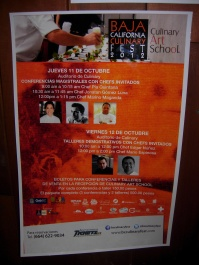 a poster advertising the Baja California Culinary Fest