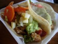 tacos in flour tortillas at Los Troncos