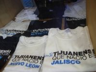 "Tijuana Innovadora t-shirts read: ""I am a Tijuanense who was born in ..."" It makes the point that Tijuana is an important city drawing residents from all over Mexico."