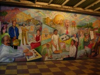 a mural inside Pasaje Rodriguez