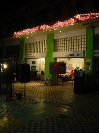 Pasaje Gomez, right across from Pasaje Rodriguez, hosts an art opening