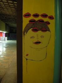 art on the wall at Pasaje Gomez