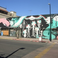 a cool mural on Avenida Revolucion