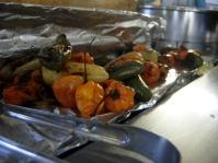"Tijuana ""fast food"" outside Mercado Hidalgo -- with chiles!"