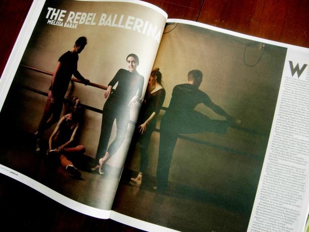 """Melissa Barak: Rebel Ballerina"" in print."