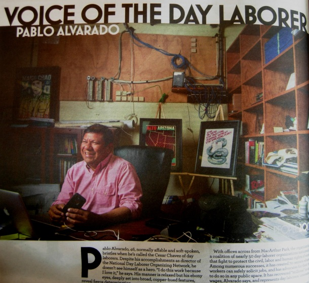 """Pablo Alvarado: Voice of the Day Laborer"" in print"