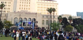 [Blog] 'Celebrate L.A.' at Grand Park: Bill Clinton, Antonio Villaraigosa, Eric Garcetti, Placido Domingo + Stevie Wonder (+ Video)