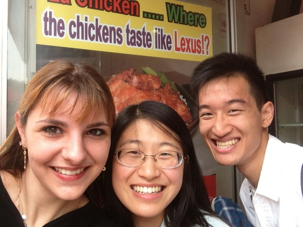 Daina, Alexis and Andrew at LA Chicken
