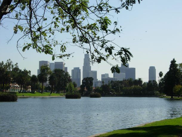 The Echo Park Lake. | Daina Beth Solomon