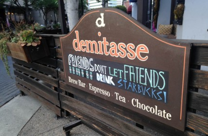 Cafe Demitasse in Little Tokyo is just down the street from Starbucks, its corporate coffee competitor | Daina Beth Solomon