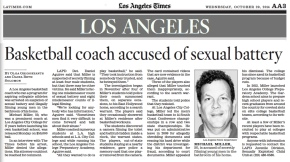 [LA Times] Basketball coach accused of sexual battery